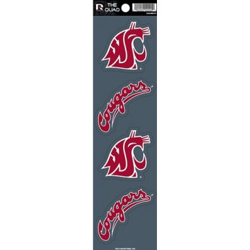Washington State Cougars Quad Decal Set