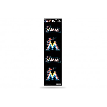 Miami Marlins Quad Decal Set