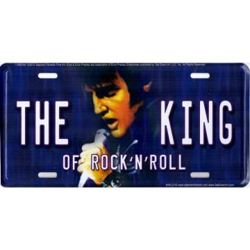 Elvis The King Metal License Plate