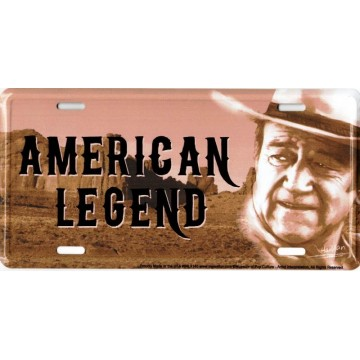 John Wayne American Legend Metal License Plate