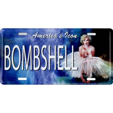 Marilyn Monroe Bombshell Metal License Plate