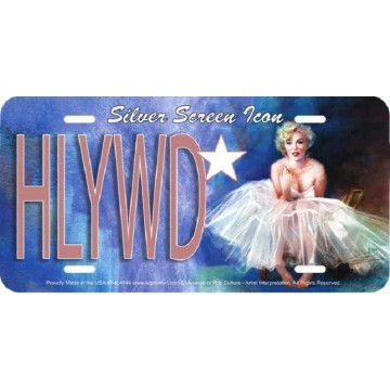 Marilyn Monroe HLYWD Metal License Plate