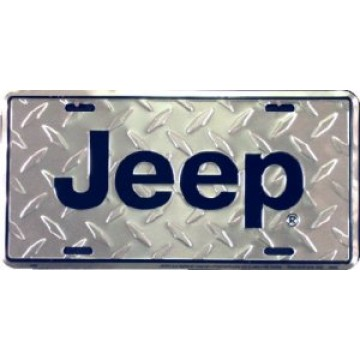 Jeep Diamond License Plate