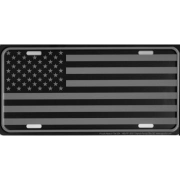 Tactical U.S. Flag Metal License Plate