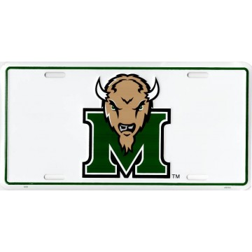 Marshall Thundering Herd Logo Metal License Plate