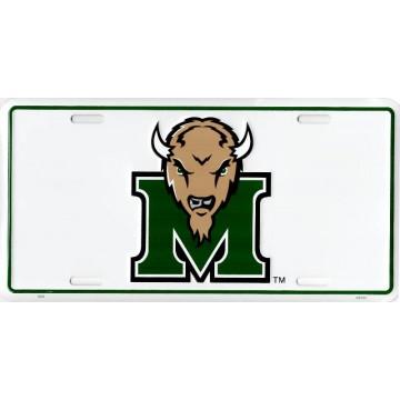 Marshall Thundering Herd Logo Metal License Plate