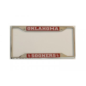 Oklahoma Sooners Chrome License Plate Frame