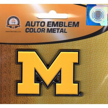 Michigan Wolverines 3-D Color Metal Auto Emblem