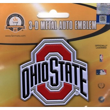 Ohio State Buckeyes 3-D Color Metal Auto Emblem