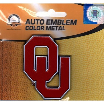 Oklahoma Sooners 3-D Color Metal Auto Emblem