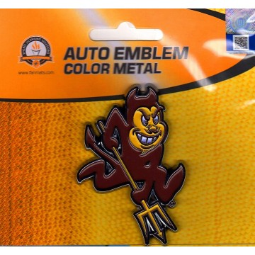 Arizona State Sun Devils 3-D Color Metal Auto Emblem