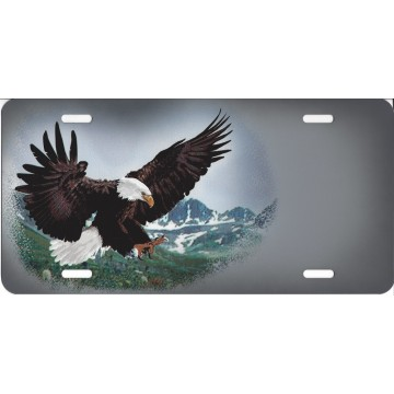 Bald Eagle Offset License Plate