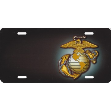 Marines Eagle And Globe Offset License Plate