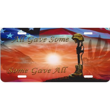 All Gave Some Some Gave All License Plate