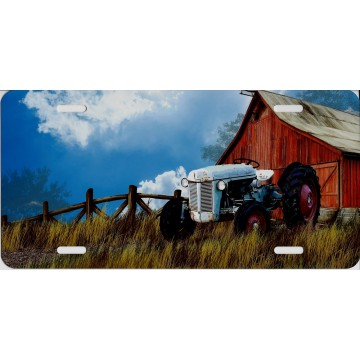 Barn With Tractor License Plate