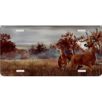 Deer In Field License Plate