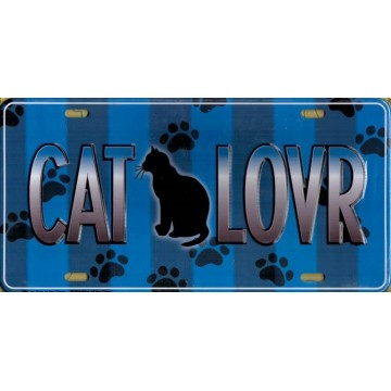 Cat Lover Metal License Plate