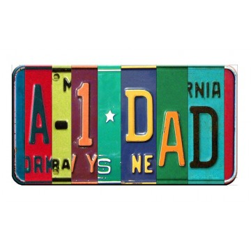A-1 DAD Cut Style Metal Art License Plate