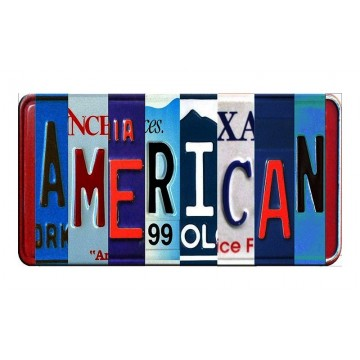 AMERICAN Cut Style Metal Art License Plate