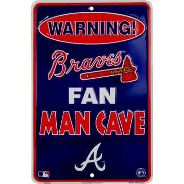 Atlanta Braves Man Cave Metal Parking Sign