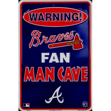 Atlanta Braves Man Cave Metal Parking Sign