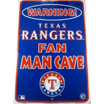 Texas Rangers Man Cave Metal Parking Sign