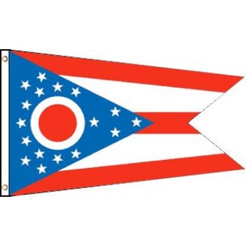 Ohio (State) Polyester Flag
