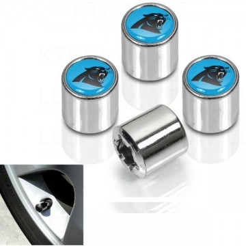 Carolina Panthers Chrome Valve Stem Caps