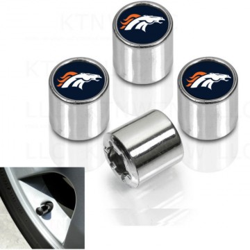 Denver Broncos Chrome Valve Stem Caps