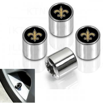 New Orleans Saints Chrome Valve Stem Caps