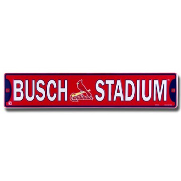 Busch Stadium St. Louis Cardinals Street Sign