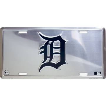 "Detroit Tigers ""D"" Anodized License Plate"