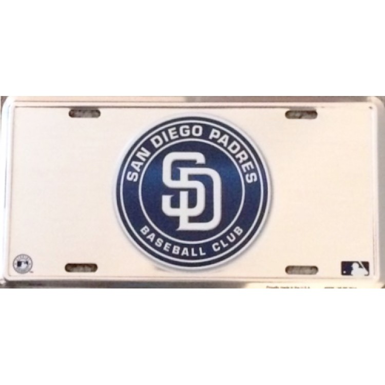 San Diego Padres Anodized License Plate