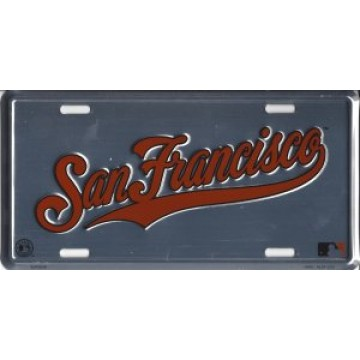 San Francisco Giants Anodized License Plate