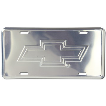 Chevrolet Bowtie Anodized License Plate