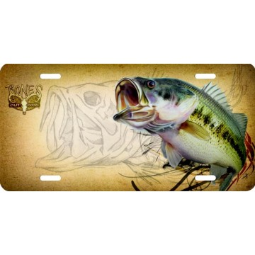 Bass Fish #2 License Plate