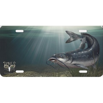 Channel Cat Fish Airbrush License Plate