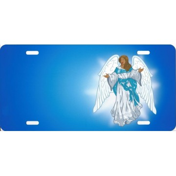 Angel Offset On Blue License Plate