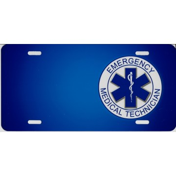 EMT Offset Airbrush License Plate