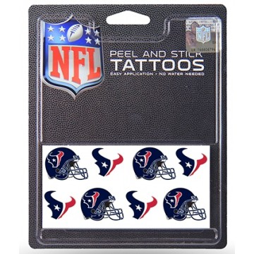 Houston Texans 8-PC Peel and Stick Tattoo Set