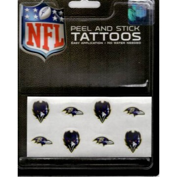 Baltimore Ravens 8-PC Peel And Stick Tattoo Set