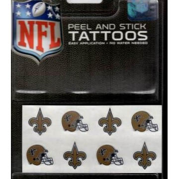 New Orleans Saints 8-PC Peel And Stick Tattoo Set