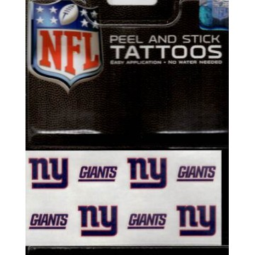 New York Giants 8-PC Peel And Stick Tattoo Set