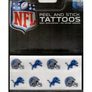 Detroit Lions 8-PC Peel And Stick Tattoo Set