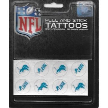 Detroit Lions 8-PC Peel and Stick Tattoo Set