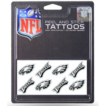 Philadelphia Eagles 8-PC Peel And Stick Tattoo Set