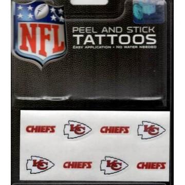 Kansas City Chiefs 8-PC Peel And Stick Tattoo Set