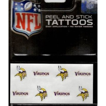 Minnesota Vikings 8-PC Peel And Stick Tattoo Set