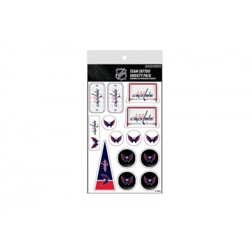 Washington Capitals Variety Pack Tattoo Set