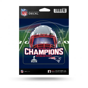 New England Patriots Super Bowl Champs Die Cut Vinyl Decal